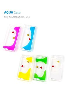 New iPhone 5/5S Cool liquid swimming fish Aquarium tank transparent hard case #CaseFit