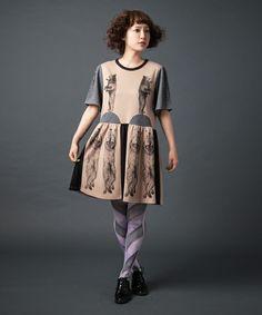MELANTRICK HEMLIGHET(メラントリック ヘムライト)のサーカス カットOP(ワンピース・ドレス)|ベージュ