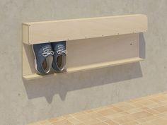 Schuhaufbewahrung Shoes # storage # Do Your Own Home Interior Ideas 2008 Ke Closet Storage, Diy Storage, Storage Ideas, Hallway Storage, Smart Storage, Diy Furniture, Furniture Design, Furniture Plans, Organization Ideas