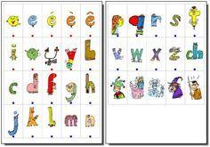 cahier alphas - Les cartes des personnages