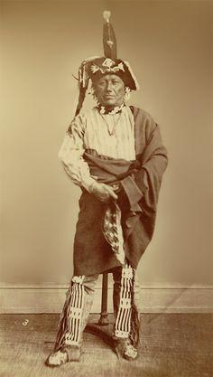An old photograph of British aka Nag-a-rash - Iowa 1869