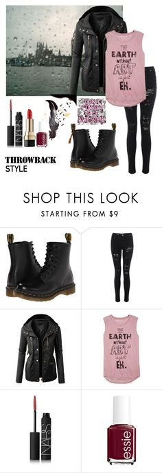 """Dr. Martens"" by fandomsandfashion-492 ❤ liked on Polyvore featuring Dr. Martens, LE3NO, dELiA*s, NARS Cosmetics, Essie and Dolce&Gabbana"