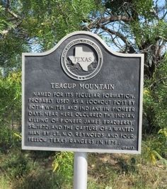 Teacup Mountain Junction TX | Teacup Mountain Marker Photo, Click for full size