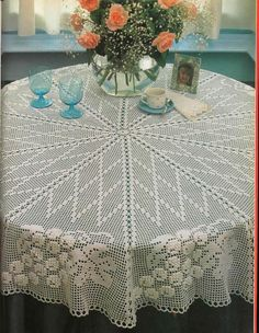 "Photo from album ""магия вязания on Yandex. Crochet Books, Crochet Home, Thread Crochet, Crochet Stitches, Crochet Table Runner Pattern, Crochet Doily Patterns, Crochet Doilies, Crochet Mandela, Mantel Redondo"