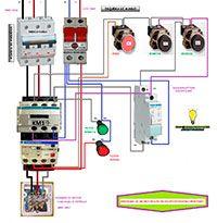 Esquemas eléctricos: Arranque de un motor con telerruptor pasando por p...