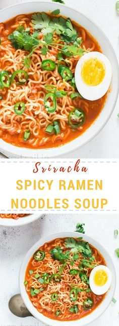 This easy Sriracha spicy ramen noodles soup is going transport you to spice heaven.This recipe is so simple and easy to make, the soup is ready in 20 minutes. Who said a bowl of ramen noodles soup is bland and boring.