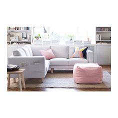 NORSBORG 2+2-kulmasohva - koivu, Finnsta valkoinen - IKEA