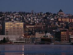 Duluth MN, view of the city from Lake Superior