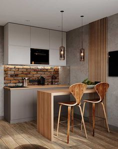 Small kitchen we got you covered . Kitchen Room Design, Home Room Design, Modern Kitchen Design, Home Decor Kitchen, Kitchen Furniture, Kitchen Interior, Home Kitchens, Kitchen Ideas, Small Apartment Interior