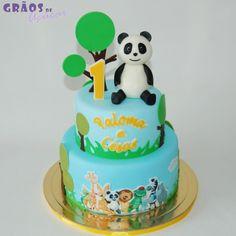 Panda e Amigos - Grãos de Açúcar - Bolos decorados - Cake Design