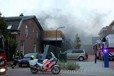 Brand in garagebedrijf Hilversum - FotoJakma.nl