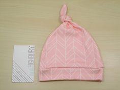 Blush Pink Chevron Newborn Hat/ Baby Hat/ by littlehighbury, $12.00