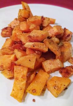 Roasted Parmesan Sweet Potatoes. A simple and healthy side dish that goes with practically anything!