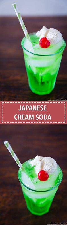 Japanese Cream Soda クリームソーダ | Easy Japanese Recipes at JustOneCookbook.com