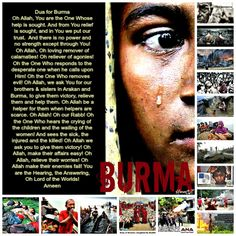 Please make dua for our Rohingyan brothers and sisters. We are one Ummah and when one part suffer we should all feel the pain of those in distress. Be sure that Allah swt will ask us when we stand before Him in Akhirah. What will we say in our defense? In shaa Allah, we will say that we raised our hands and wept for our brothers and sisters. May Allah help them, ameen.