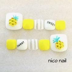 こちらは両足10本分のネイルチップです♡【 サイズは基本、 ワンサイズを扱っていますが サイズの変更は無料で承っております。 ( 写真3枚目にサイズ一覧表を掲載 ) 】サイズは、ネイルチップの裏側中心部分(1番... Crazy Nails, Fancy Nails, Pretty Nails, Trendy Nail Art, Stylish Nails, Toe Nail Designs, Simple Nail Designs, Nail Swag, Feet Nails