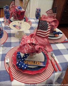 Fourth Of July Decor, 4th Of July Celebration, 4th Of July Decorations, 4th Of July Party, July 4th, Table Decorations, Memorial Day, Festa Party, Patriotic Party