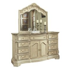 Signature Design by Ashley Ortanique Dresser & Mirror Set.  1500.00.  Tons of dressers at ATG div of Lowes