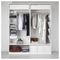 IKEA - PAX Wardrobe white, Flisberget light beige