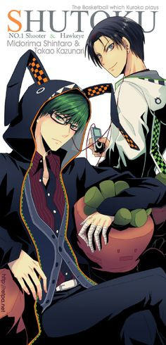 Tags: Anime, Hood, MP3 Player, Animal Hood, Kuroko no Basket, Takao Kazunari, Midorima Shintarou