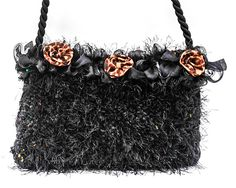 Handmade Purse Black with Leopard Print Flowers by Rags2Wishes, $49.99