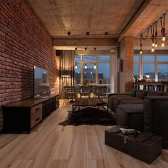 Loft on Behance Loft Design, Home Room Design, Dream Home Design, Home Interior Design, Living Room Designs, Loft House, House Rooms, Apartment Interior, Apartment Design