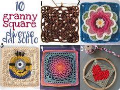 Raccolta di Idee: 10 progetti per Granny Square originali e diverse dal solito