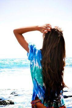 Beach camping outfits hair dos 39 ideas for 2019 Brown Beach Hair, Beachy Hair, Beachy Waves, My Hairstyle, Pretty Hairstyles, Beautiful Long Hair, Gorgeous Hair, Look Fashion, Fashion Beauty