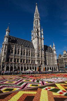 Posts à Beira Mar: O tapete de flores em Bruxelas