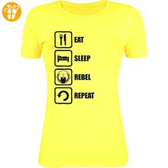 Anonymous Inspired Eat Sleep Rebel Repeat Womens T-Shirt XX-Large (*Partner-Link)