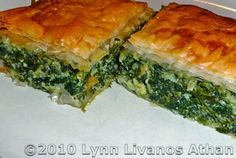 Greek Spinach Pie Recipe (Spanakopita) - Recipe for Making Greek Spinach Pie with Feta (Spanakopita) | This is RIDICOULOUSLY good! wow. I took one bite and looked up the recipe lol Make this NOW