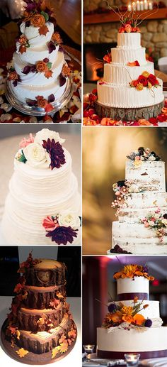 great fall wedding cakes for 2015