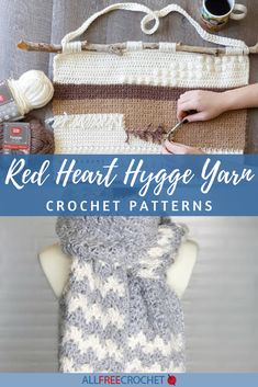 30+ Red Heart Hygge Yarn Crochet Patterns All Free Crochet, Crochet Yarn, Red Heart Crochet Patterns, Yarn Brands, Red Heart Yarn, Good Company, Hygge, Projects To Try, Thread Crochet