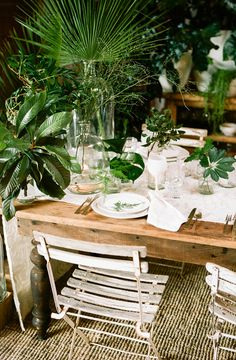 The Cream Event 2015   Photo by  Brian Tropiano Wedding Table, Rustic Wedding, Wedding Reception, Fairy Lights Wedding, Wedding Decorations, Table Decorations, Centerpieces, Beautiful Table Settings, Botanical Wedding