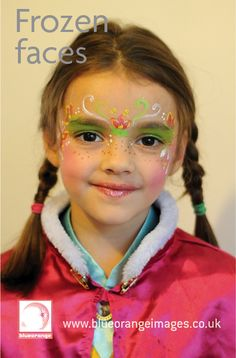 Blue Orange Images #facepainting Watford, Frozen character, by Edna Williamson 07971 813850