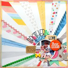 The One with American Crafts Cut & Paste Layouts - Chris and Paige