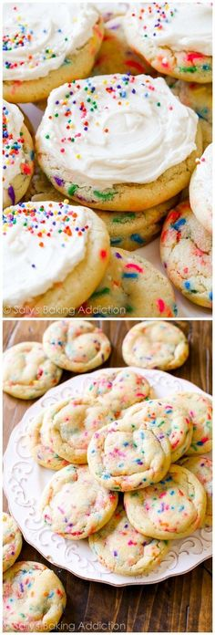Funfetti Cookies Supreme   Frosted Sugar Cookies