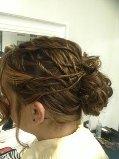 Basket weave twists complete this flirty funky updo