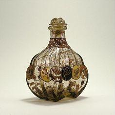 1880s Emile Galle Art Nouveau Perfume Bottle