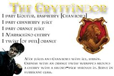 The Gryffindor Drink Harry Potter Treats, Harry Potter Drinks, Harry Potter Food, Harry Potter Wedding, Harry Potter Theme, Harry Potter Birthday, Disney Mixed Drinks, Disney Drinks, Fun Drinks