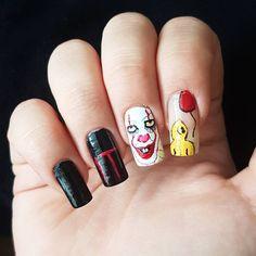 "Páči sa mi to: 24, komentáre: 3 – Domi Králiková (@domi_nailart) na Instagrame: ""You'll float too🤡💅 @iceh4x @jessi_._ @tralalajkova #it #stephenking #to #horror #2017 #clown…"""