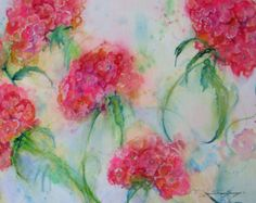 abstract floral original watercolor art floral by JaniceTraneJones
