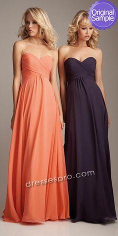 Orange bridesmaid dress but shorter