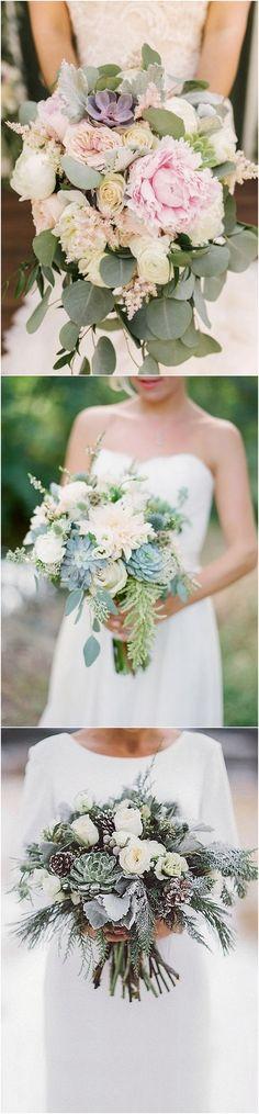 Trending wedding bouquet ideas with succulents for 2018 #weddingflowers #weddingbouquets #weddingideas #weddingtrends
