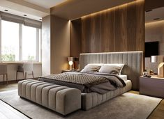 Modern Bedroom With Tips To Help You Design & Accessorize Yours - Bedroom Design Luxury Bedroom Design, Master Bedroom Interior, Master Bedroom Design, Home Decor Bedroom, Interior Design, Bedroom Ideas, Master Bedrooms, Modern Interior, Bedding Decor