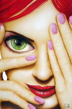 La belleza de unos grandes ojos