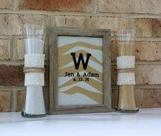 Personalized Rustic Barn Wood Wedding Sand by HandmadeByLeeAnn, $54.99