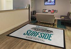 Surfside Dental Office Logo Rug