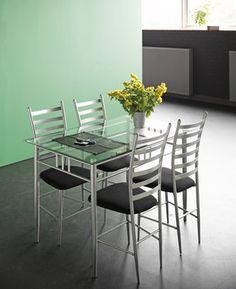 Spisebord SVINNINGE 76x120 metal/glas | JYSK