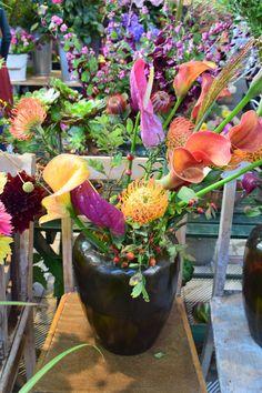 Beautiful flowers arrangement at Markthalle IX, Berlin